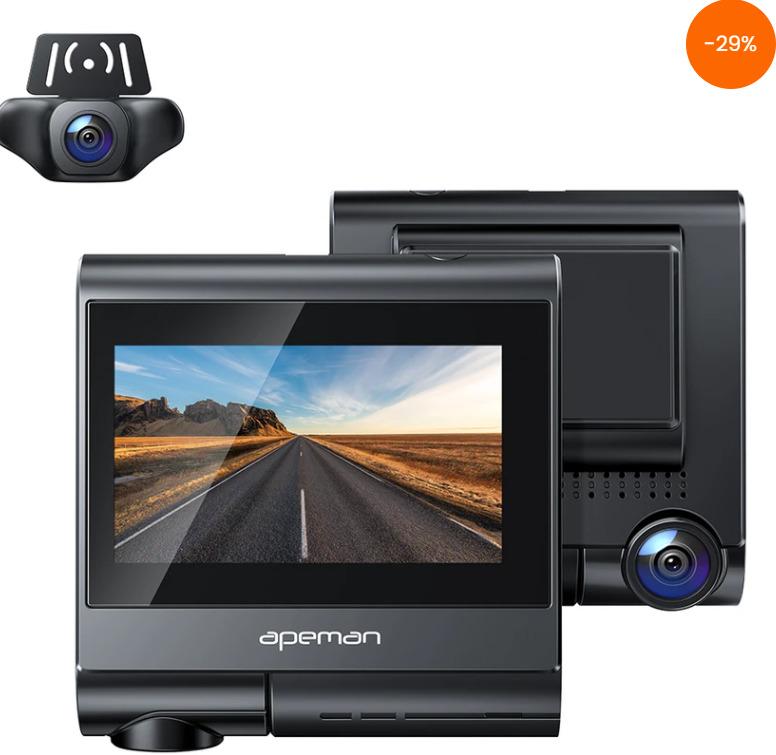 APEMAN C770 4K Touch Screen Dash Camera